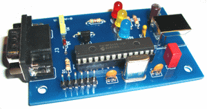 PIC18F2455 OBD2 USB  to RS232 converter circuits
