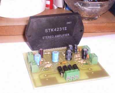 STK4231 2x100watt two-channel stereo amp circuit power supply circuits on the same PCB printing do not need to create...