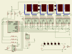 Clock Thermometer Circuits with PIC16F628 PICBasic Pro