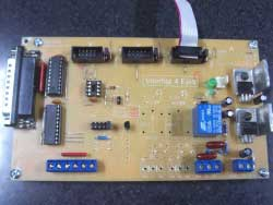 CNC Control Interface with PIC12F629 and 74HC244N