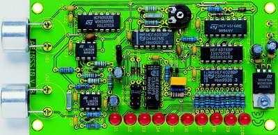 Ultrasonic Distance Meter Circuit LED Display Parking Sensor