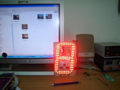 Large  7-Segment Display Circuit ULN2803  PIC16F876A
