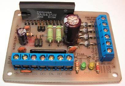Bipolar Stepper Motor Drive Circuit with TA8435 PCB