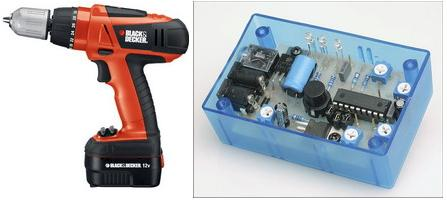 Hand Drill Battery Charge Controller with PIC16F88 Microcontroller