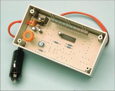 Alcoholmeter Circuit  with MG3 Sensor LM3914 LED Display Indicator