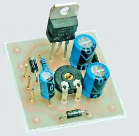 LM317T Adjustable Regulated Power Supply