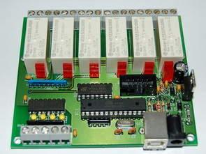 USB Port Relay  Control with Atmel Atmega8