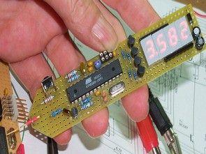 Atmel Atmega8 Multimeter Circuit (led display)