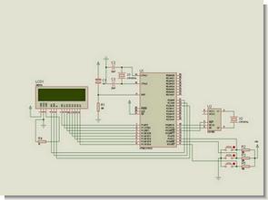 DS1302 RTC  8051  Digital Clock Circuit  (LCD Display)