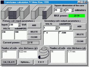 Transformer Calculator Program