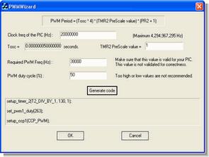 CCS C PWM Calculator