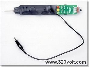 Simple Logic Probe Circuit with LED Indicator Level Measurement  CD4001
