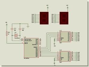 PIC16F84  00-99 Forward, Backward  Counter Circuit Picbasic Pro