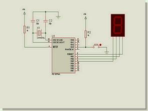 Hexadecimal, Binary Counter Circuits LED Display PIC16F84