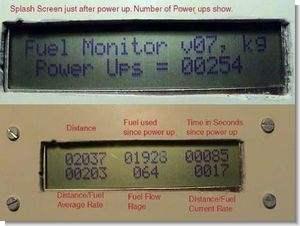 Car Fuel Monitor Circuit PIC16F84