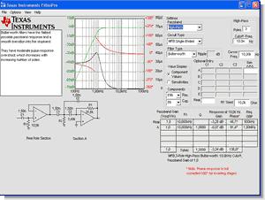 Active Filter Design Program and Filter  Application
