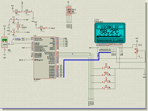 LM35 PIC16F877 Temperature Measurement and Graphic LCD   Menu Design
