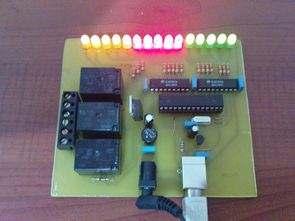 Atmel Atmega8 via USB Control Circuit