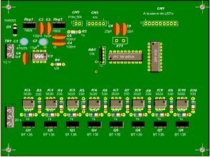 PIC16F84 Lamp Light Effects Circuit MOC3020 isolation BT137 Triac Control