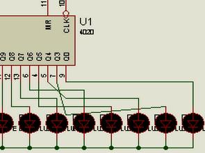 Binary Counter CD4020  Chamber Led Circuit
