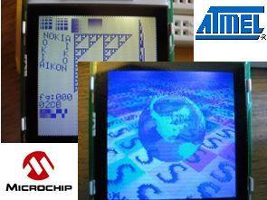 dsPIC33FJ128GP Nokia 6100 LCD driver circuit ATmega168