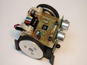 Line Following Robot Project Ultrasonic Sensor Circuit Atmega16 CNY70 SFR05