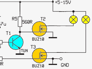 70W Lamp Dimmer Circuit 555 MOSFET