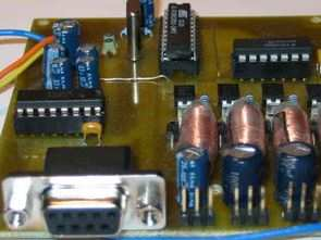 4 Channel PWM Control Circuit Visual Basic RS232  AT89C2051