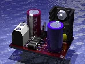 Adjustable Regulator Module LM317T Circuit