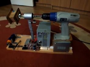 Transformer Winding Reel Assembly with Cordless Drill