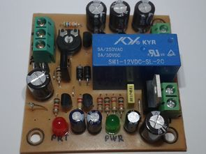 Speaker DC Protection Circuit Delayed and LED alarm