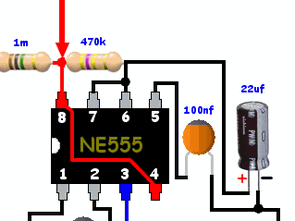 Timer Touch Switch Circuit 555