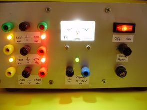 Constant voltage, output power Supply Set for experiments