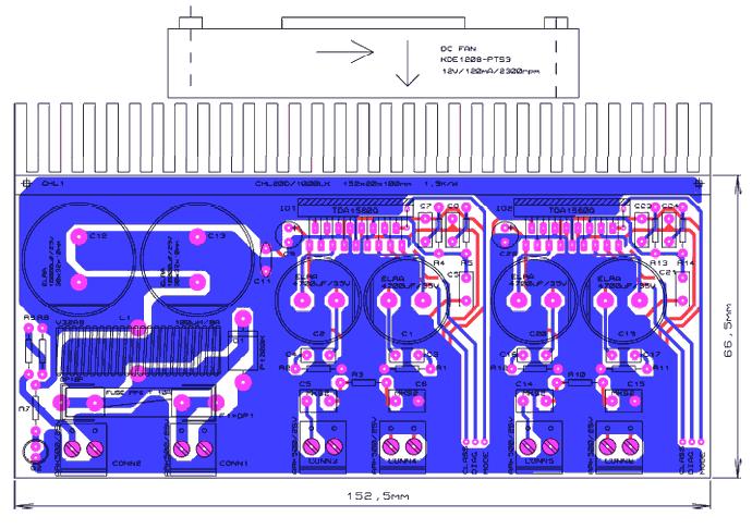 2X40W Amplifier Circuit TDA1560Q pcb tda1560q amplifier circuit parameters