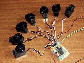PIC16F876 Control of 8 Servos Motor 5 Analog Channels I2C bus