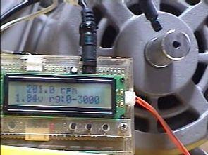 PIC16F88 LCD Tachometer Circuit