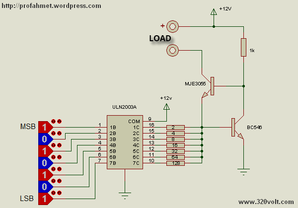 Digital Controlled Current Limiting Circuit uln2003a circuit current limitation can set digitally