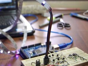 Piano sound controlled RGB LED ambilight Arduino Mega