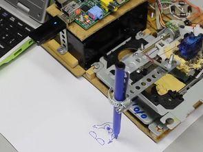 Raspberry Pi CD-ROM mechanics with Plotter