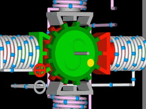 Animated video Stepper motor and brush motor operation