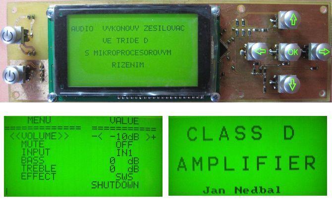 Digital Class D Amplifier Project TAS5613 TDA9859 ATmega128 atmega128 class d circuit control