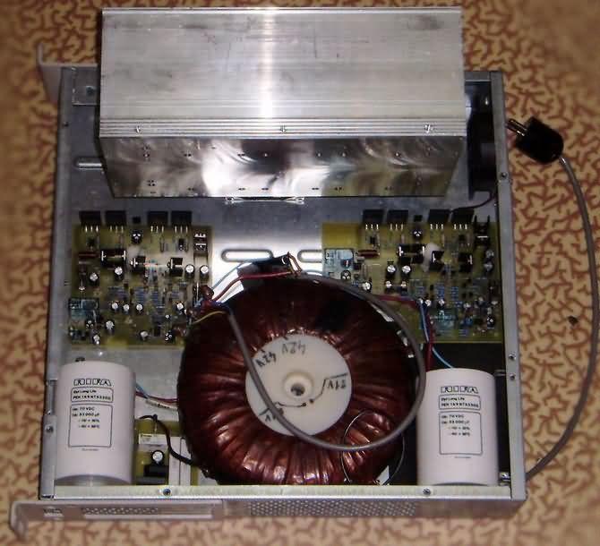 RMS 2X200W Amplifier Circuit  MJL21196 MJL21195 low frequency amplifier power amplifier preamplifier