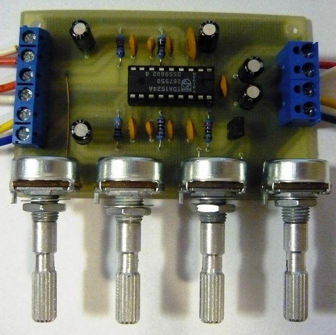 tda1524 preamp tone control circuit electronics projects circuits rh 320volt com