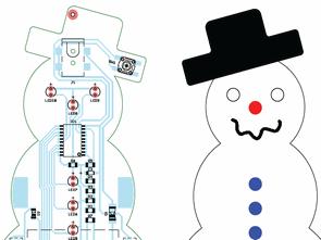 ATtiny2313 LED Animated snowman