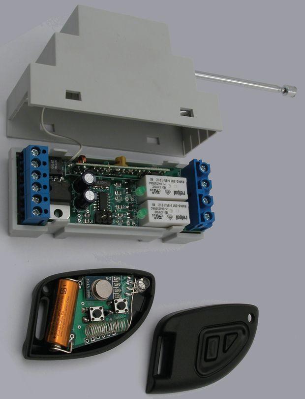 2 Channel RF Remote  Switch Circuit ATtiny24 rf remote control citcuit proj