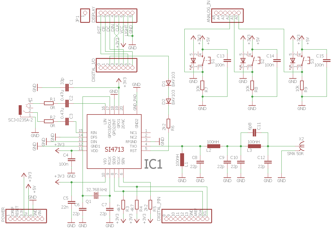 Am Transmitter Schematic Diagram Electrical Wiring Diagrams Onetube And Circuit Descriptions Arduino Uno Fm Si4713 Electronics Projects