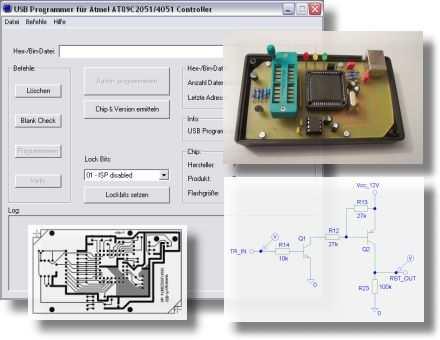 Atmel Avr AT89C2051 AT89C4051 USB Programmer