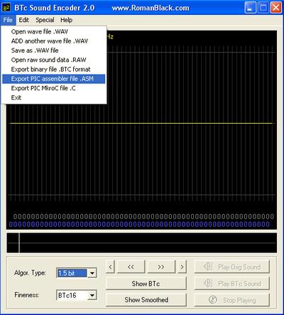 Wav to PICmicro ASM,  C Converter Program