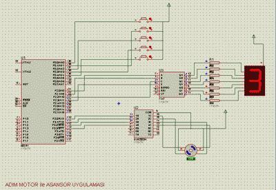 8051 Elevator Project Stepper Motor Control