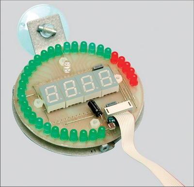 PIC16F88 Tachometer Circuit  LED and Display Indicator